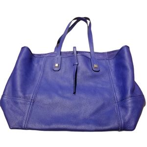 Stella & Dot Soft Pebbled Leather Tote